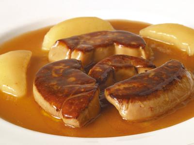 Foie Gras de Hígado de Pato a la Plancha con Salsa de Vino de Málaga
