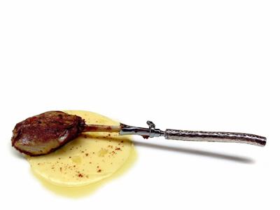 Coscia d`oca croccante con crema di patate (2003)