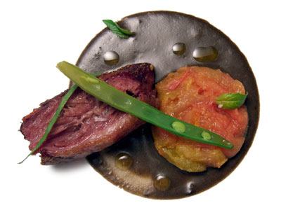 "Carrillera de ternera ""braseada"" con salsa de pan (2007)"