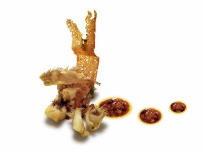 Pescado frito con pan con tomate (2005)