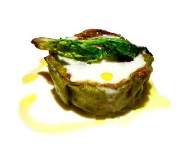 Lasaña de espinacas y pollo estofado con salsa de parmesano (2004)