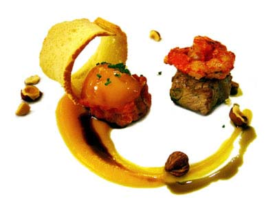Beef chaud-froid with prawns (2005)