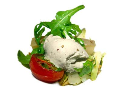 Beef head with artichokes and anchovy ice cream (2005)