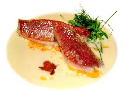 Salmonetes con sopa de ricotta (1997)