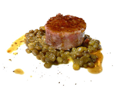 Cotechino with lentils and ground coffee (1998)