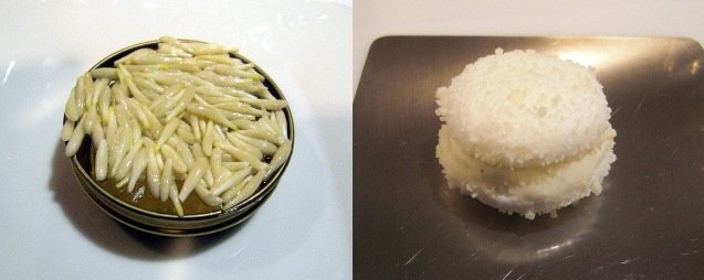 Germinado de piñones / Macarrón de parmesano