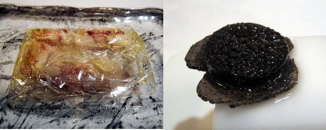 Papillote de chipirones / Todo trufa, gelatina y láminas