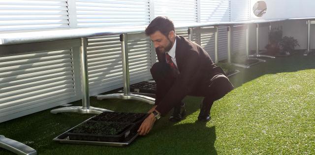 Didier en su 'huerto'