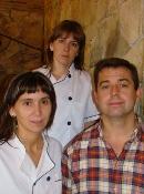 Vicenta, Olatz y Florencio Cano