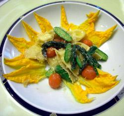 Bruno Cingolani, ravioli di ricotta seirass con verdure dell'orto