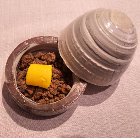 Marshmallow de agua de maíz con chocolate blanco