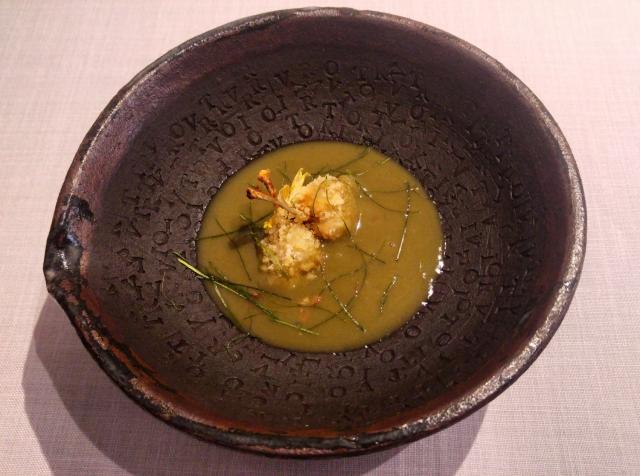 Curry manchego con ancas de rana