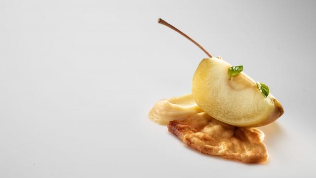 Manzana, Romero, Crema de Patata y Ciruelas