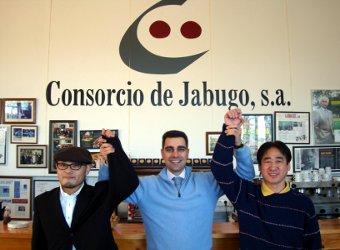 Los ganadores del II Concurso de Cortadores de Jamón Ibérico celebrado en Japón
