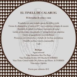 El Tinell de Calabuig celebra sus II Jornadas de Setas y Caza