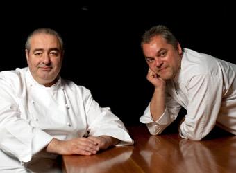 Santi Santamaría y Xavier Pellicer
