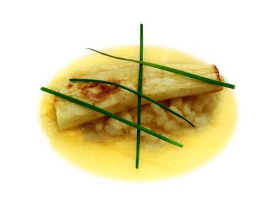 Cetriolo Arrosto Con Riso E Brodo Di Molluschi