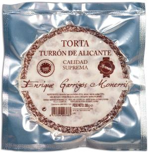 Torta de Turrón de Alicante Enrique Garrigós Monerris