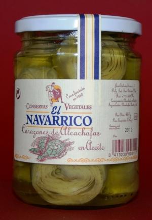 Corazón de Alcachofas en Aceite de Oliva El Navarrico