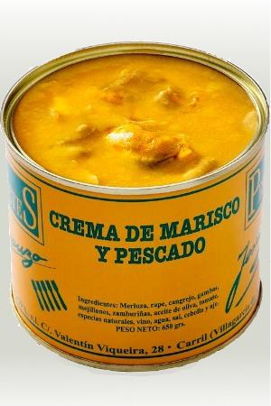 Crema de Mariscos y Pescados Los Peperetes