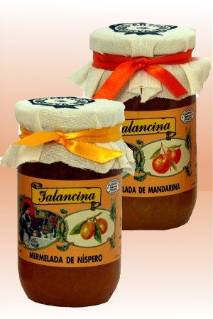 Mermeladas de Mandarina y  Nísperos Jalancina