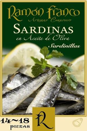Sardinillas en Aceite de Oliva 14/18 Ramón Franco