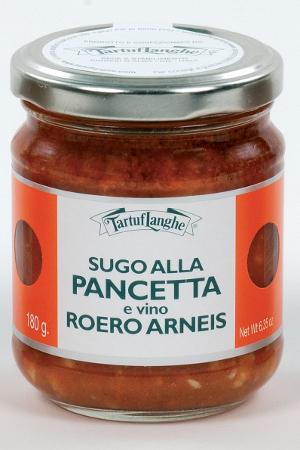 Salsa a la Panceta y Vino Roero Arneis Tartuflanghe
