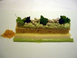 Cangrejo con emulsion de ostras y caviar