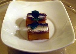 Patata con anchoa ahumada
