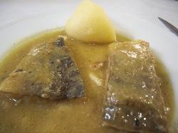 Bacalao en salsa de pimientos verdes