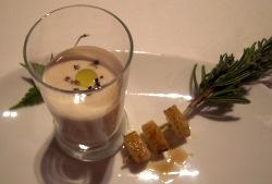 Berberechos con crema de brandada