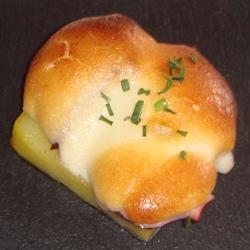 Patata, pulpo y espuma gratinada de alioli