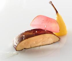 Foie Grass, Pera, Jengibre e Hibiscus