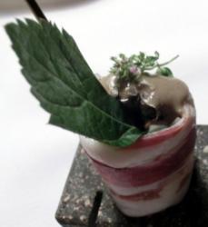 Speck Ripieno di Julienne di Verdure e Gelato All'olio di Zucca