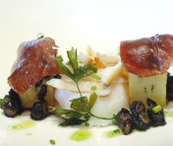 Patata candita con calamari