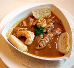 Sopa de frutos de mar