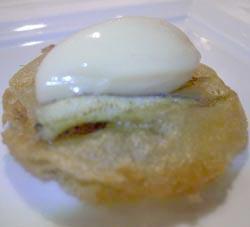 Sardina marinata con emulsione di chorizo e peperoni dolci