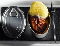 Foie gras con manzana y aire de fruta de la pasión