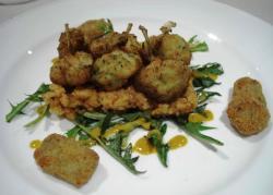Panzanella con ranas fritas