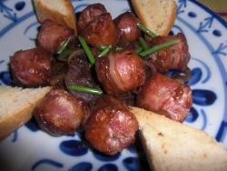 Salchicha de lengua de cordero y carne de cerdo