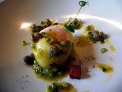 Huevo de caserío a baja temperatura forrado con patata