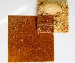 Sencillamente cubo de buey de mar, sorbete de crustáceos
