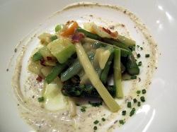 Verduras salteadas con velo de queso Irati