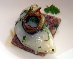Ravioli de vieira con caviar beluga