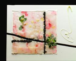 Carpaccio de cigalas del Adriático con caviar ligero de sal