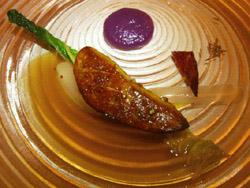 Foie gras de pato a la plancha en choucroute imaginaria