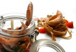 Liguine di nola ai rostacei pendolini e albanella di crostacei