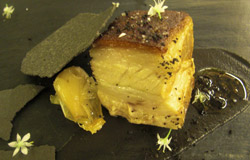 Pork Belly And Crunchy Aubergine