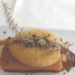 Huevo frito con calabaza