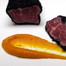 Presa de Cerdo Ibérico Frita al Carbón